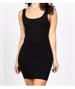 New Tank Dress Black Crepe Double Lined Knit - $20.00