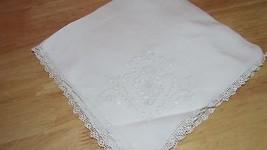 Vintage 4 White 1 ecru embroidery open cutwork lace edge napkins HOLES F... - $2.99