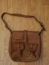 Frye Brown Leather Cross Body Bag Purse 1970's-1980's - $121.54