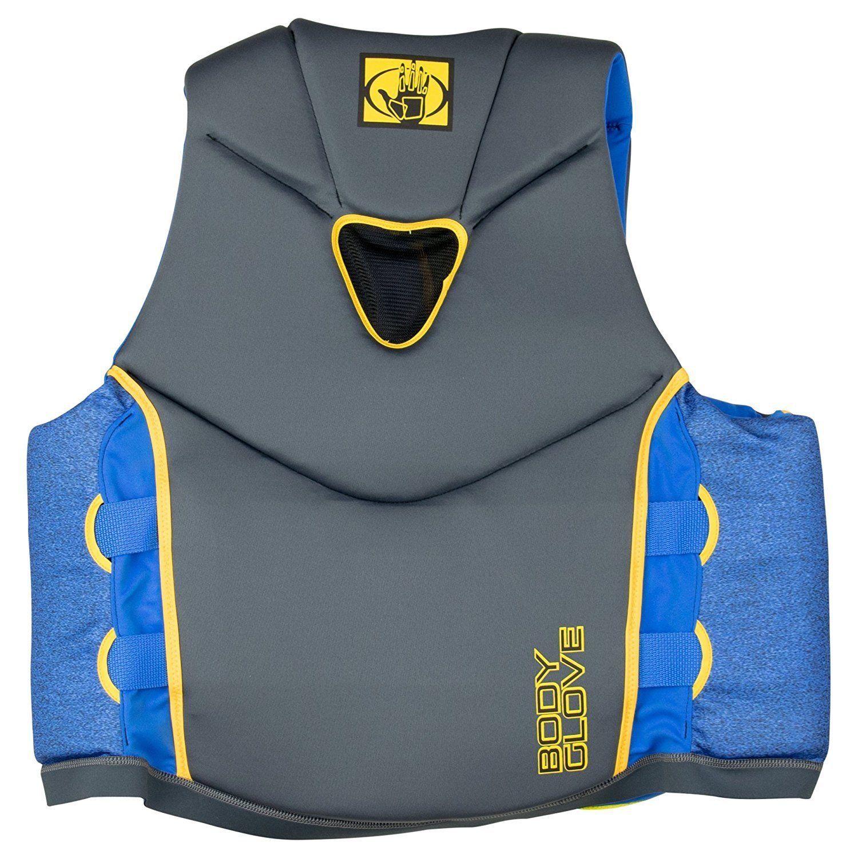 New Kidder Neoprene 2 Buckle Zipper Life Jacket Vest Green Blue Med Large
