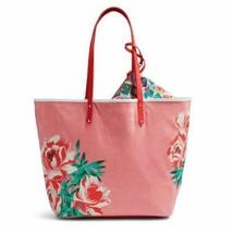 New VERA BRADLEY Beach Tote - Oxford Floral **REVERSIBLE** w/pouch #124 - £37.16 GBP