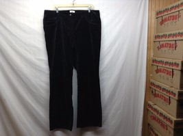 Ann Taylor LOFT Women's Black Velour Cotton Pants Sz 16