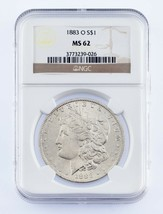 1883-O $1 Silver Morgan Dollar Graded by NGC as MS-62! Gorgeous Coin! - $69.29