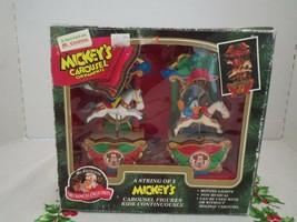 VINTAGE 1993 MR CHRISTMAS LIHJT UP MOTION CAROUSEL ORNAMENT, MICKEY, DON... - $28.22
