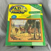 Craft House Wooded Sanctuary Deer Oil Paint By Number 16 x 20 New Sealed... - $49.49