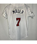 Majestic Minnesota Twins #7 Joe Mauer Jersey Youth Large MLB Baseball Un... - $34.63