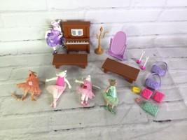 Angelina Ballerina Miniature Figures Dolls Mixed Lot And Accessories Sab... - $39.59