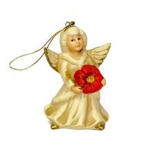 Vintage Homco Christmas Angel Ornament Porcelain Hand Painted Christmas ... - $9.99