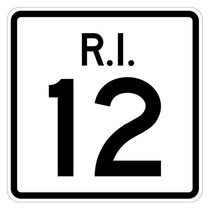 Rhode Island State Road 12 Sticker R4219 Highway Sign Road Sign Decal - $1.45+