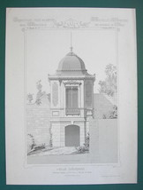 ARCHITECTURE PRINT : PARIS Victorian Mansion at St Cloud Recreation Pavi... - $22.49