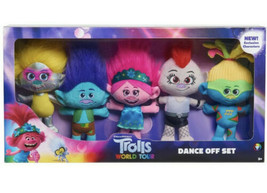 TROLLS World Tour DANCE OFF PLUSH SET Tresillo Gomdori Poppy Branch Barb... - $39.99