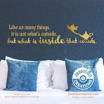 Like so many things, it's not what is outside - Aladdin Disney Quote Vin... - $7.00+