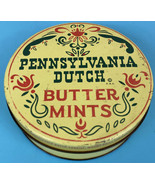 Pennsylvania Dutch Butter Mints 12oz Litho Tin Pre-1963 No Zip Code Vint... - $11.11