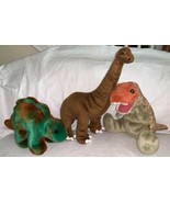 Plush Dinosaur LOT OF 4 Wish Pets Albertosaurus BBC T-Rex Ty Stegosaurus Douglas - $32.99