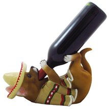 South of the Border Chihuahua Wine Bottle Holder Sculpture for Decorativ... - $32.62