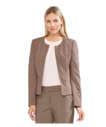 NWT CALVIN KLEIN BROWN ZIP FRONT CAREER JACKET SIZE 12 SIZE 14 $129 - $35.24