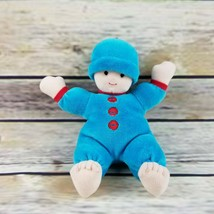 North American Bear Co Doll Kitchy Koo Baby Turquoise Plush Baby 1998 6 ... - $14.99