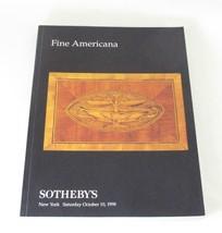 Sothebys NY Fine Americana Auction Catalog 10/10/1998 - $23.33