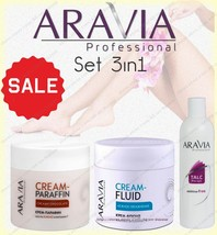 NEW Aravia Set   Cream paraffin   Cream-fluid   Talc   Epilation and ski... - $19.79+