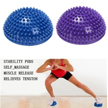 Yoga Balance 16cm Half Round Spiky Massager Ball Stepping Foot Sole Trig... - $21.90+