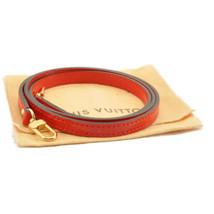 LOUIS VUITTON Vernis Shoulder Strap 113.5cm Red LV Auth 8377 - $240.00