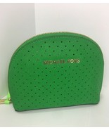 Michael Kors Perforated Saffiano Leather Cosmetic Bag Dome Green M5 - $48.99