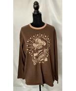Ladies Long Sleeved Shirt, Grumpy 1937, XL, Brown/Beige, 100% Cotton - $22.07