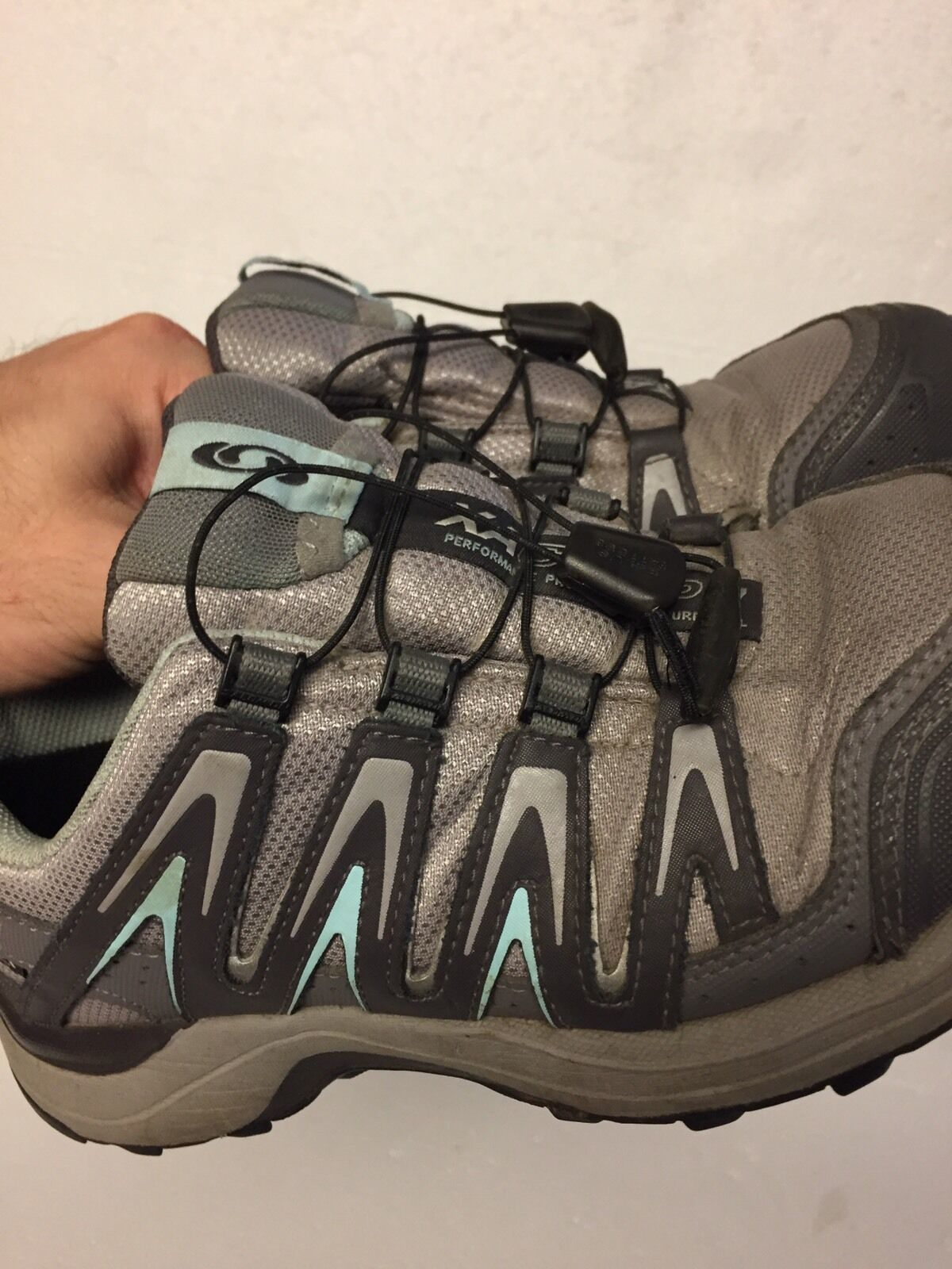 Women's Salomon XA Comp 7 Trail-Running Hiking Athletic Shoes Size 6.5 Gray Teal image 5