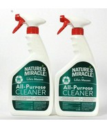 (2) Nature's Miracle For Life's Messes Household All Purpose Cleaner Spray 32 Oz - $29.69