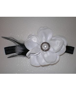 BABY GIRL BLACK HEADBAND WITH HANDMADE WHITE SA... - $7.99