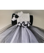 BABY GIRL LONG BLACK & WHITE TUTU PHOTO PROP DR... - $18.00
