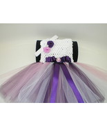 BABY GIRL LONG PLUM, PINK & WHITE TUTU PHOTO PR... - $18.00