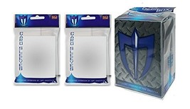 100 CLEAR Shuffle-Tech GLOSS Finish Sleeves + Deck Box (fits Magic , Force of Wi - $6.99