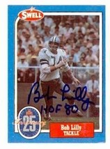 Bob Lilly autographed football card (Dallas Cowboys) 1988 Swell #70 insc... - $18.00