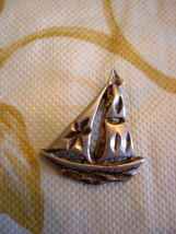 Vintage ~ Sail Boat ~ Sterling Silver Charm ~ 3-D ~ nice detail - $9.99
