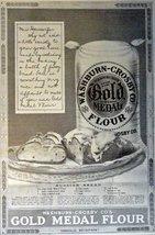 "Gold Medal Flour, Print Advertisment. 1913 B&W Illustration, 7 1/2"" x 10... - $12.86"