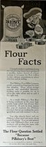 "Pillsbury's Best Flour, ad 1917 B&W Illustration, 5 1/2"" x 15"" Print art... - $11.87"