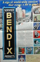 Bendix Products, 30's Print Ad. Color Illustration (a sign of world-wide serv... - $15.83