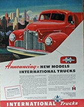 1947 International Trucks, 40's Print ad. Full Page Color Illustration (new m... - $18.99