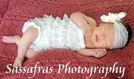 BABY GIRL WHITE/OFF-WHITE LACY PETTI ROMPER PHOTO PROP WITH MATCHING HEADBAND