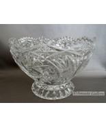 American Brilliant Vintage Cut Crystal Pinwheel Star Footed Candy Dish R... - $16.99