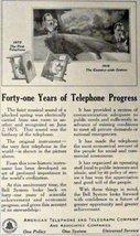 American Telephone and Telegraph Company. 1916 Print Advertisment. B&W I... - $11.87