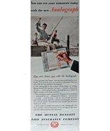 The Mutual Benefit Life Insurance Company, 40's Print ad. Color Illustra... - $11.87