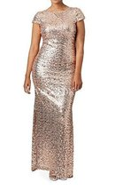 Fanmu Sheath Floor Length Sequined Bridesmaid Dress Prom Gowns Gold US 4 - $139.99