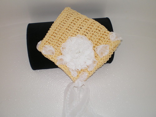 BABY GIRL YELLOW AND WHITE  PIXIE HAT PHOTO PROP