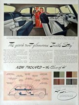 1941 Packard Cars, Print advertisment. 40's full page color Illustration... - $12.86