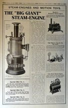 Steam Engines andMotion toys, etc. 1913 Full Page B&W Illustrations, 10 ... - $14.84