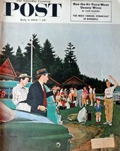camp Winooski/ leaving little boy at camp, Saturday Evenig Post Magazine, Jul... - $14.84