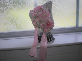 BEAUTIFUL BABY GIRL PIXIE HAT WITH PINK ACCENTS  PHOTO PROP - $15.00