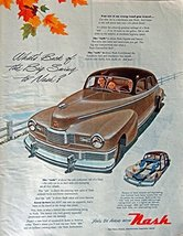 1947 Nash Cars, 40's Print ad. full page Color Illustration (beautiful car) R... - $18.99